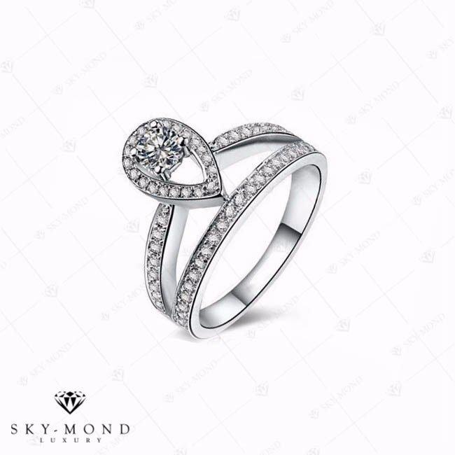 Nhẫn nữ bạch kim NNBK049